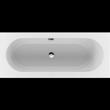Villeroy & Boch Loop & Friends duobad rechthoek met ovale binnenvorm, 180x80 cm, wit alpin