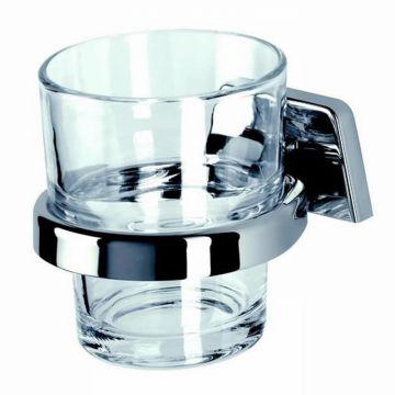 Geesa Standard glashouder met gehard glas, chroom