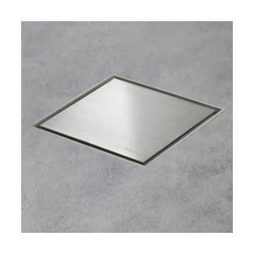 Easy Drain Aqua Jewels quattro vloerput rvs 10x10 cm, zu multi, rvs geborsteld