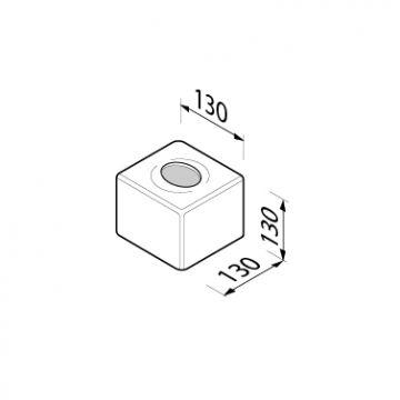 Geesa Hotel tissuepapierhouder vrijstaand 13x13 cm, chroom