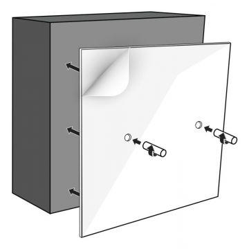 LoooX montageset opbouw t.b.v. opbouw Colour Box 60x30 cm