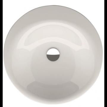 Bette Lux oval inbouw wastafel rond 50cm zonder kraangat, wit