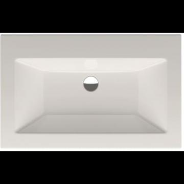 Bette Loft inbouw wastafel 80x49.5 cm. zonder kraangat, wit