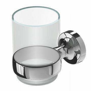 Geesa Tone glashouder met glas, chroom