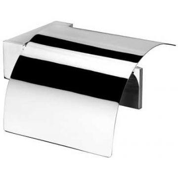 Geesa Modern Art closetrolhouder met klep, chroom