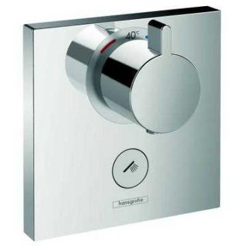 Hansgrohe ShowerSelect afdekset highflow thermostaat met 1 stopfunctie, chroom