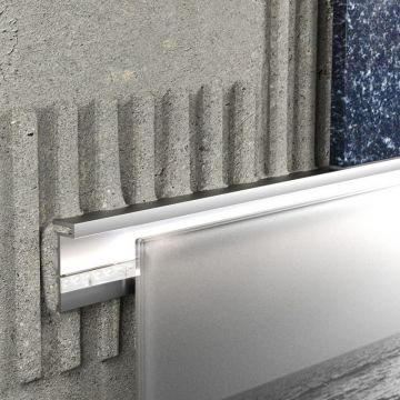 Schlüter Liprotec-D decoratief profiel 4,5 mm, 2,5 m, aluminium mat