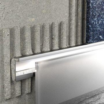 Schlüter Liprotec-D decoratief profiel 9 mm, 2,5 m, aluminium mat