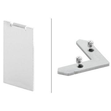 Schlüter Liprotec-D hoekverbindingsset à 4 stuks voor groef 10mm, aluminium mat