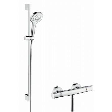 Hansgrohe Croma Select E Vario / Ecostat Comfort douchecombinatie 90 cm, chroom