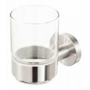 Geesa Nemox Stainless Steel glashouder met glas, RVS