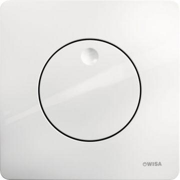 Wisa Quadro bedieningspaneel Gaia met spoelonderbreking 1-knops, wit