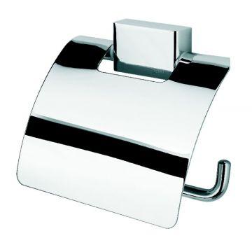 Geesa Bloq closetrolhouder met klep 130x125x16mm, chroom