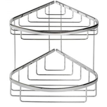 Geesa Basket hoekkorf dubbel groot, chroom