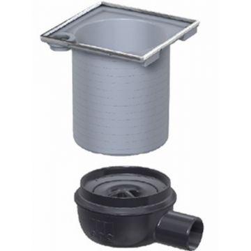 ACO Showerdrain Easyflow afvoerput horizontaal uitlaat 50mm,stankslot 50mm, grijs