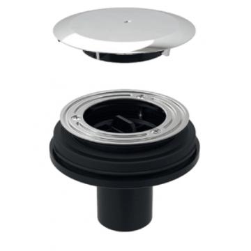 Geberit Setaplano Sifon voor bad/douchebak onder afvoer 163 x 115 mm, chroom
