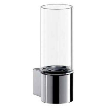 Emco System 2 glashouder inclusief glas 14,3 x 5,2 x 8,2 cm, chroom
