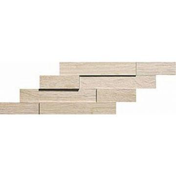 Atlas Concorde Axi keramische tegelmat brick 3D 20x44 cm, white pine