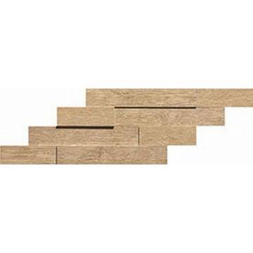 Atlas Concorde Axi keramische tegelmat brick 3D 20x44 cm, golden oak