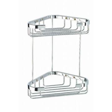 Geesa Basket hoekkorf dubbel middel, chroom