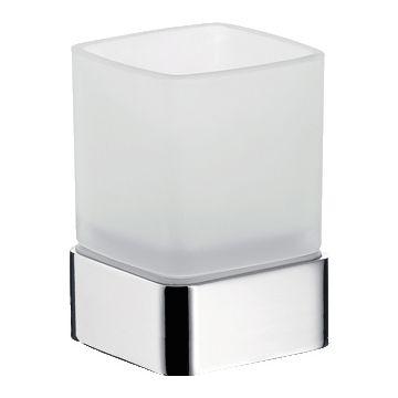 Emco Loft glashouder staand model met gesatineerd glas, chroom