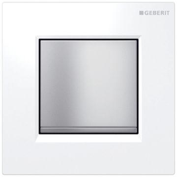 Geberit Type30 urinoir bedieningspaneel, glans-wit/mat-chroom
