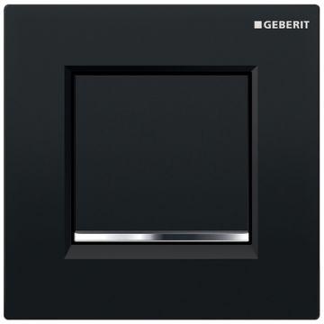 Geberit Type30 urinoir bedieningspaneel, zwart-chroom-zwart