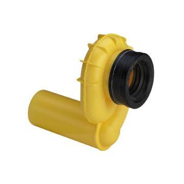 Viega horizontale kunststof urinoir sifon, geel