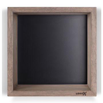 LoooX Wood Collection wand box 30 x 30 cm, eiken-mat zwart