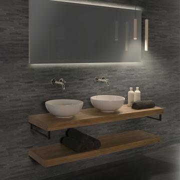 LoooX Light badkamerverlichting met LED verlichting 40cm incl. 12V trafo en 1.5m inkortbaar snoer mat zwart