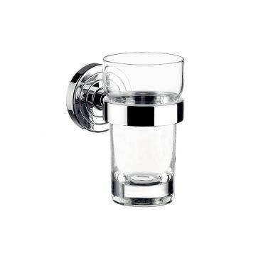 Emco Polo glashouder inclusief helder glas 11,5 x 9,8 cm, chroom