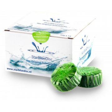 StarBlueDisc toiletblokjes, doosje van 12 stuks, groen