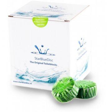 StarBlueDisc toiletblokjes, doos van 24 stuks, groen