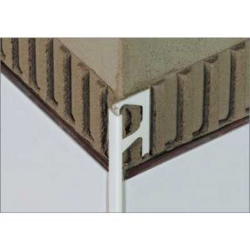 Schlüter Jolly-AC tegelprofiel 11 mm, 250 cm. aluminium, wit