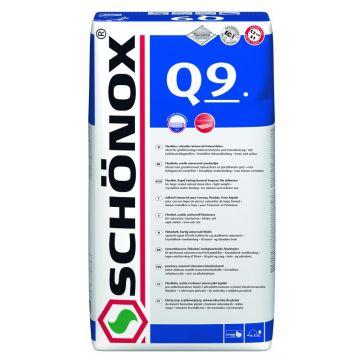 Schonox Q9 flexibele poederlijm zak à 25 kg.