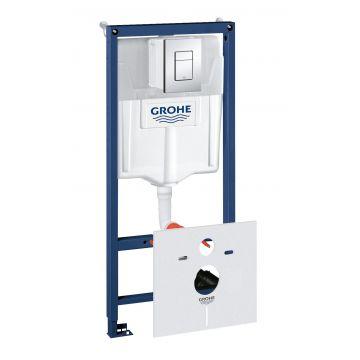 GROHE Rapid SL element voor hangend toilet met chromen bedieningspaneel 113 cm met QuickFix