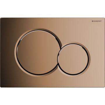 Geberit Sigma01 bedieningspaneel 2-knops frontbediening 16,4 x 24,6 cm, edel messing
