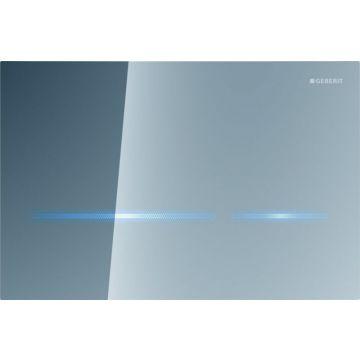 Geberit Sigma80 bedieningspaneel touch free voor 12 cm diep inbouwreservoir, spiegelglas