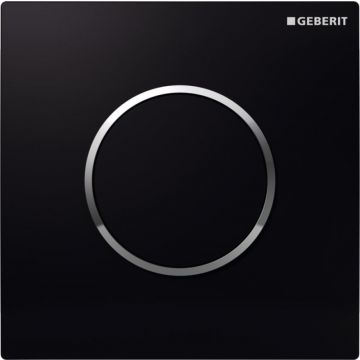 Geberit Type10 bedieningspaneel urinoir, zwart/chroom