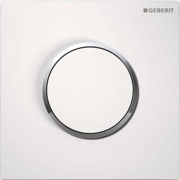 Geberit Type10 urinoir bedieningspaneel, wit/chroom