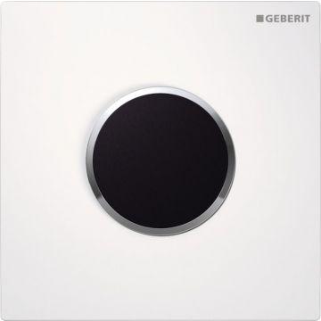 Geberit Sigma10 urinoir stuursysteem infrarood 230v, wit-chroom-wit