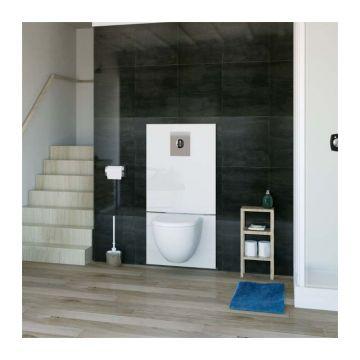 SANIBROYEUR SANIWALL® Pro UP inbouwreservoir met fecaliënvermaler inclusief bedieningspaneel, wit