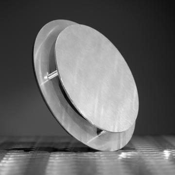LoooX ontluchtingsrooster 100/120mm rond met klembevestiging RVS