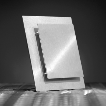 Looox Air ontluchtingsrooster met klem 15 x 15 cm, rvs