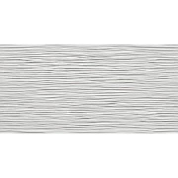 Atlas Concorde 3D Wall Design keramische decortegel wave 40x80 cm, glossy wit