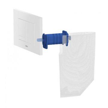 Wisa Clean XT wc tablethouder en filter voor Kantos bedieningspaneel, wit