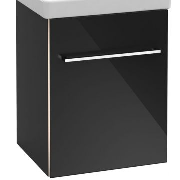 Villeroy & Boch Avento wastafelonderkast 41,7x52x34,6 cm met deur scharnier links, crystal grey