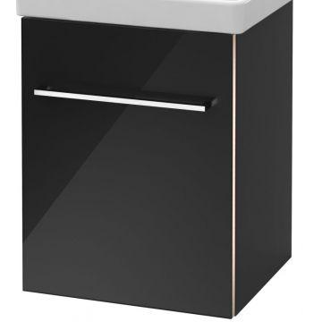 Villeroy & Boch Avento wastafelonderkast 41,7x52x34,6 cm met deur scharnier rechts, crystal grey