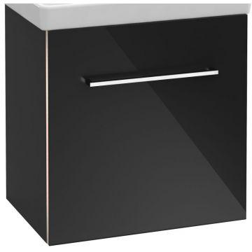 Villeroy & Boch Avento wastafelonderkast 51,2x52x34,8 cm met deur scharnier links, crystal white