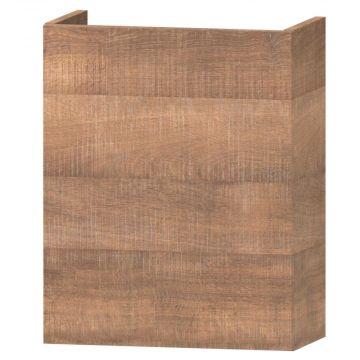 Wavedesign Domino fonteinonderkast met fontein 40x22x60 cm, brown oak